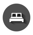 bed icon in flat style sleep bedroom with long vector image vector image