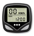 bicycle speedometer computer vector image vector image