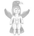 black and white of bizarre creature nude wo vector image