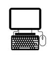 black icon pc cartoon vector image vector image