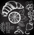 Breakfast sketched set vector image vector image