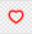 bright neon heart vector image vector image