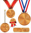 bronze medal vector image vector image