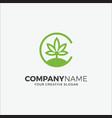 business logo cannabis initials c vector image