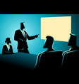 business people having a meeting using projector vector image