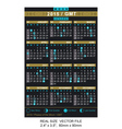 calendar 2015 with Phases of the moon GMT vector image vector image