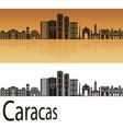 caracas v2 skyline vector image vector image