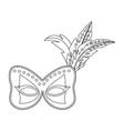 carnival mask cartoon vector image