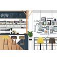 coffee shop interiors vector image vector image