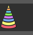 color design christmas tree with strips over dark vector image vector image