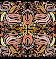 colorful baroque seamless pattern floral vector image