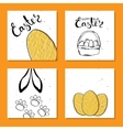 Colorful collection of printable card for Easter vector image