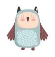 cute animals owl bird cartoon isolated icon design vector image