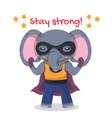 cute cartoon super hero elephant with cape