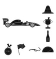 design of car and rally symbol set of car vector image