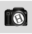 digital photo camera roll film vector image vector image