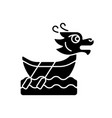 dragon boat festival black glyph icon vector image vector image