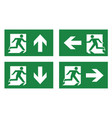 fire exit icon set vector image