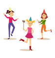 flat girls party set vector image vector image
