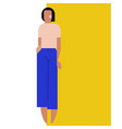 geometry woman figure vector image