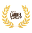 Gold Laurel Shine Wreath Award Design vector image vector image