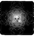 grunge halftone background with a skull vector image vector image