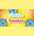 happy raksha bandhan poster design vector image