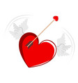 heart shape and a cupid arrow vector image