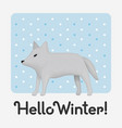 hello winter holiday card with an inscription with vector image vector image