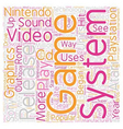 history of video game systems text background vector image vector image