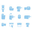 icon set of toilet paper napkins and towels vector image