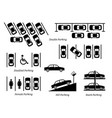 illegal car parking and other special slots vector image