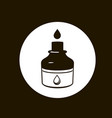 ink icon black and white vector image vector image