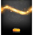 Invitation with Fire Design vector image