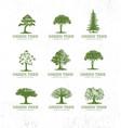 landscape design workshop identity tree collection vector image vector image
