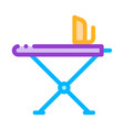 laundry service ironing equipment line icon vector image