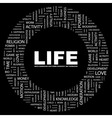 LIFE vector image vector image