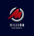 logo million gradient colorful vector image