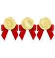 luxury gold badges vector image vector image