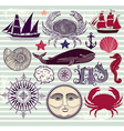 Marine Objects vector image