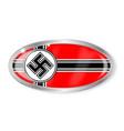 nazi flag oval button vector image vector image