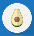 of berry symbol on avocado vector image