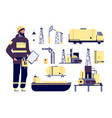 oilman oil industrial environment petroleum vector image