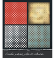polka dots backgrounds collection eps10 vector image vector image