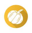 pumpkin flat design long shadow glyph icon vector image