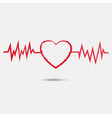 red heart brush symbol isolated transparent vector image vector image