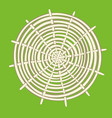 round bamboo mat vector image vector image
