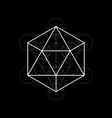 sacred geometry with vector image vector image