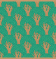 seamless pattern with stylized old deciduous trees vector image vector image