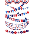 Set American decorations vector image vector image